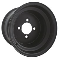 Black Steel Wheel 10 x 7