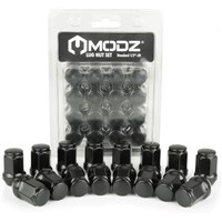 100 Pack 12mm x 1.25 Metric Lug Nuts - Black