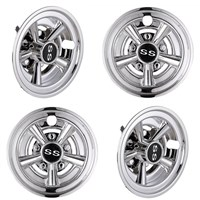 "10 SPOKE SS 8"" COVER, SET OF  4"