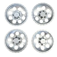 "WHEEL COVER SET (4), RALLY 10"", EZ EMBLEM"