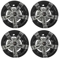 "WHEEL COVER, 10"" MAVERICK BLK/CHR (4 PKG)"