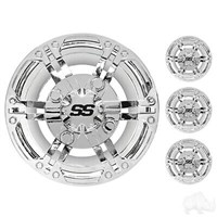 "10"" CHROME WHEEL COVER, SET OF 4"
