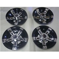 "WHEEL COVER, 10"" MAVERICK BLK/CHR"