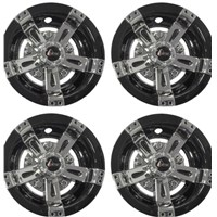 "WHEEL COVER, 8"" MAVERICK BLK/CHR (4 PKG)"