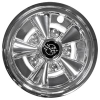 "WHEEL COVER, 10"" RALLY CHROME"