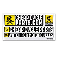 Cheap Cycle Parts Sticker Sheet