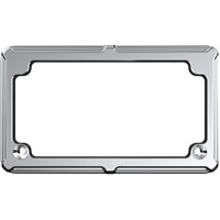VICTORY® BEVELED LICENSE PLATE - CHROME BY ARLEN NESS