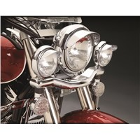 "4 1/2"" Chrome Spot Light Visor (Pair)"