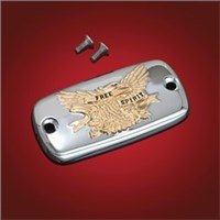 Show Chrome Master Cylinder Covers - Gold Fre