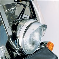 "7"" Chrome Headlight Visor"