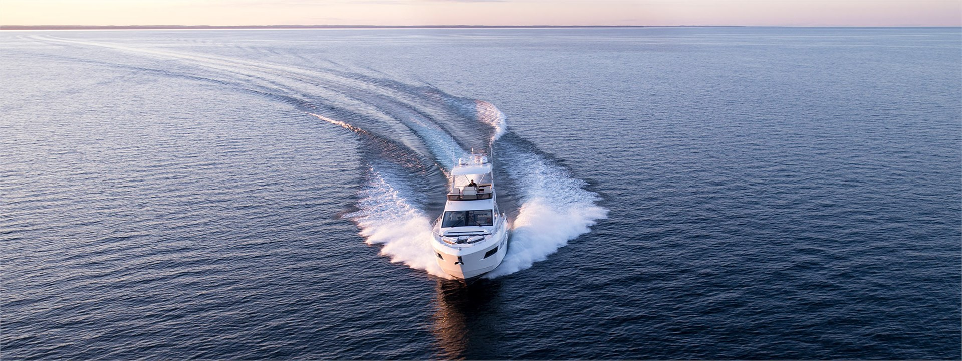 Water Shot of a Cruiser Yachts 60 Fly