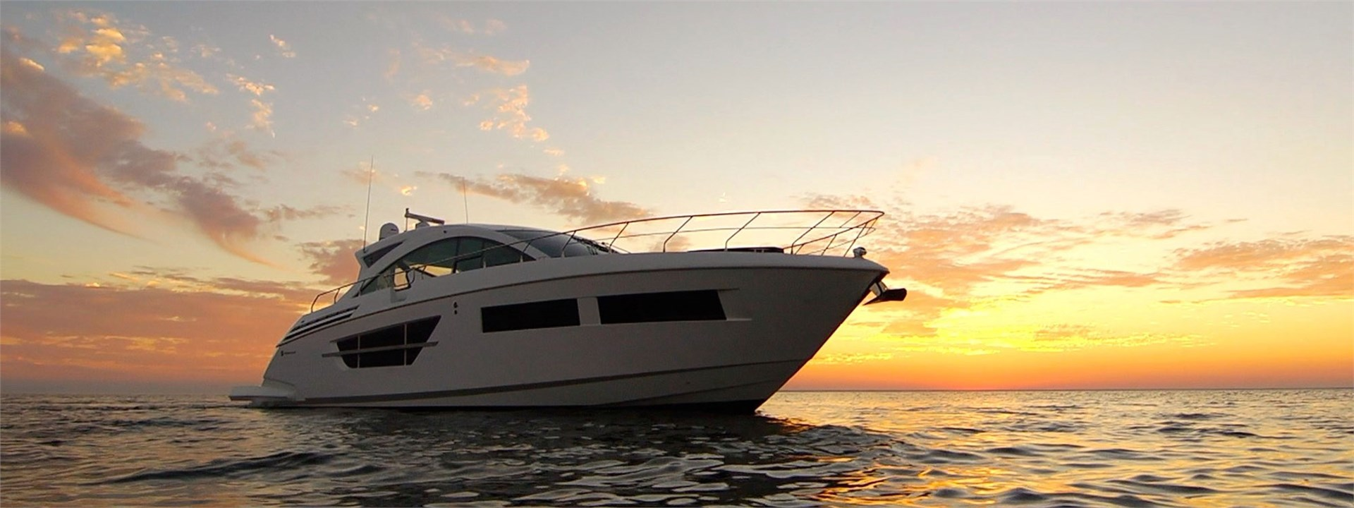 Water Shot of a Cruiser Yachts 60 Cantius
