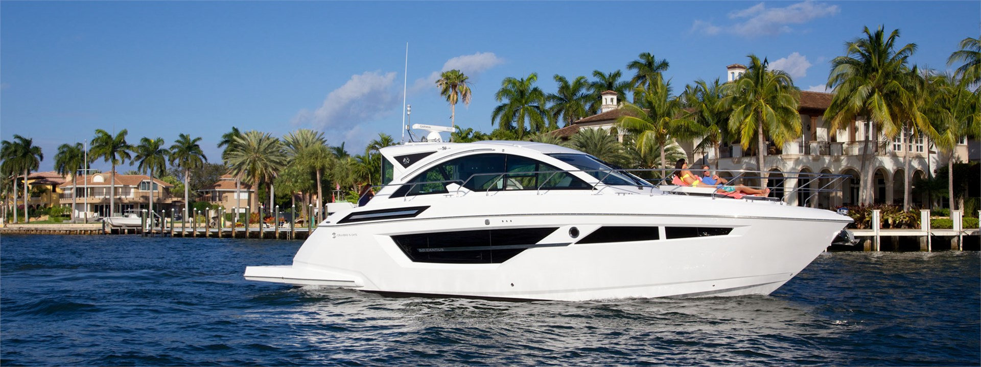 Water Shot for a Cruiser Yachts 50 Cantius