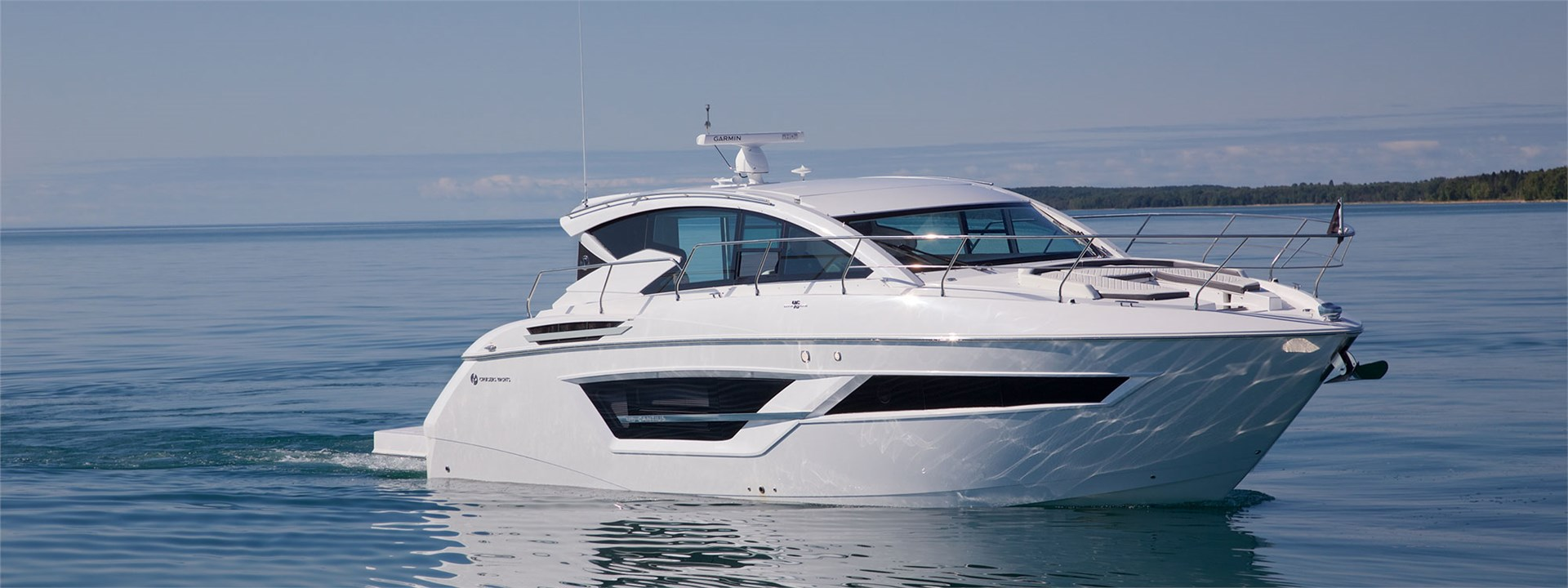 Water Shot of a Cruiser Yachts 46 Cantius