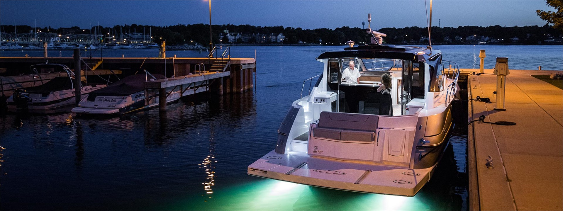 Water Shot of a Cruiser Yachts 45 Cantius