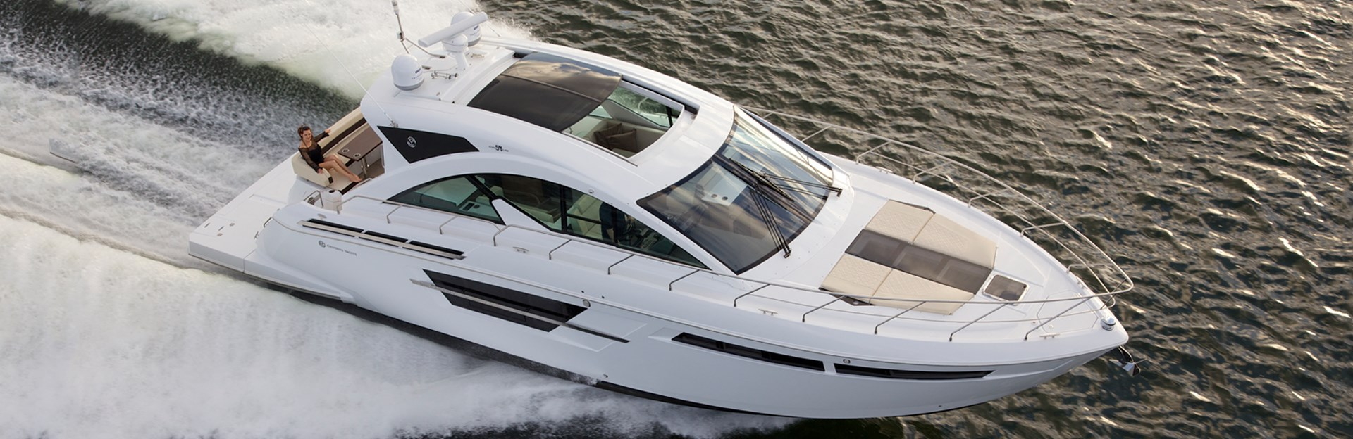 Water Shot of a Cruiser Yachts 54 Cantius