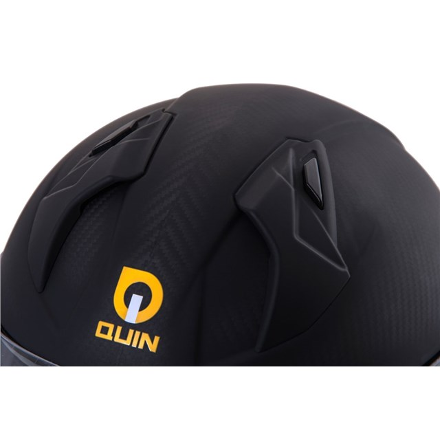 Quin Ghost Carbon Bluetooth Integrated Smart Helmet Large