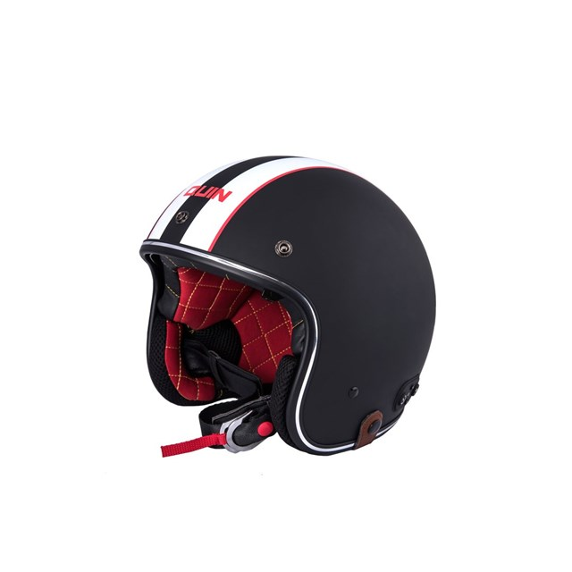 Quin McQ Nero Bluetooth Integrated Smart Helmet XL