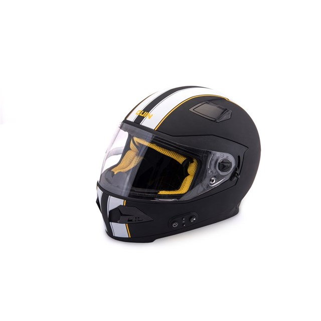 Quin Spitfire Nero Bluetooth Integrated Smart Helmet Large