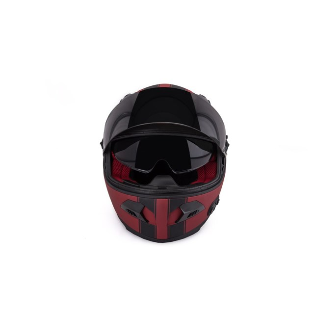 Quin Spitfire Rosso Bluetooth Integrated Smart Helmet Small