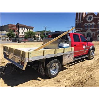ALUMINUM FLATBED W/TOOLBOXES