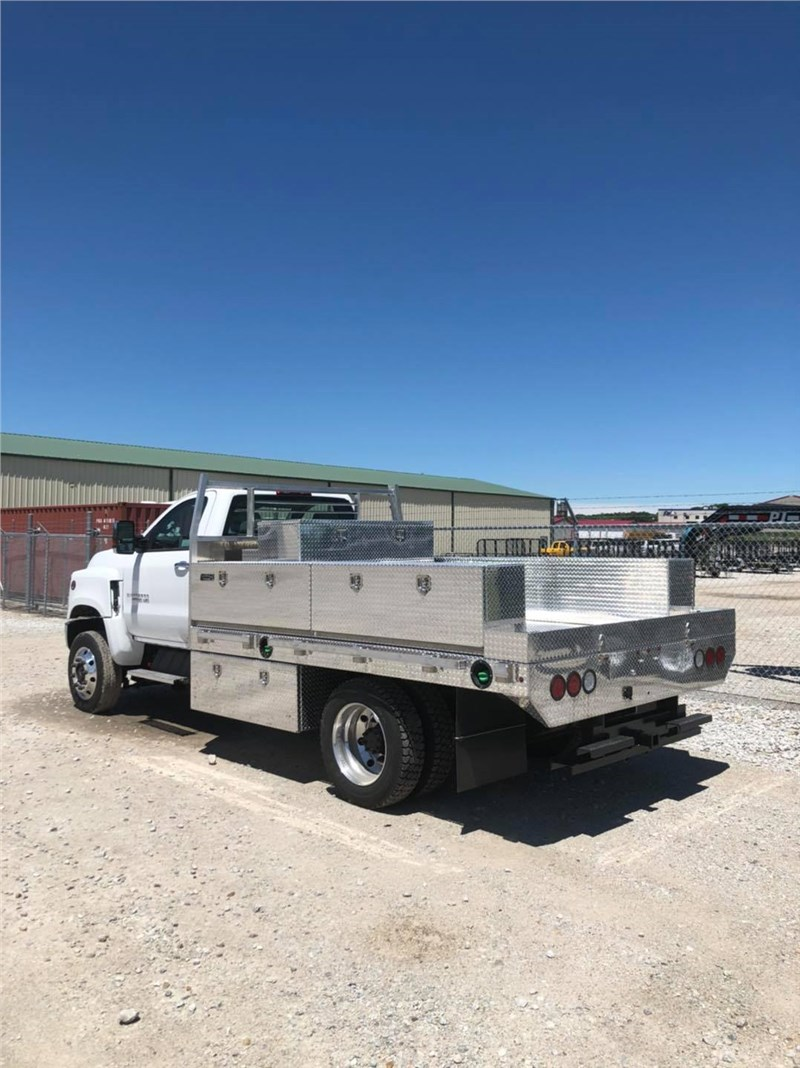 "Chevy 4500 84""CA we up fitted with an aluminum flatbed , toolboxes, fuel transfer tank, removable sides / tailgate and heavy duty receiver hitch"