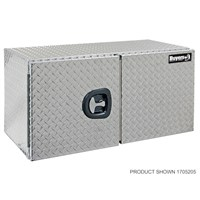 1705200- 18x18x24 Inch Diamond Tread Aluminum Underbody Truck Box With Barn Door