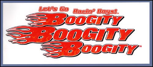 Boogity Lets Go Racin Boys Diecut Static - Large