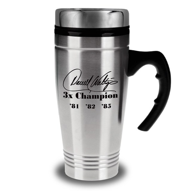 "Darrell Waltrip's ""3"" Time Champion Steel Mug"