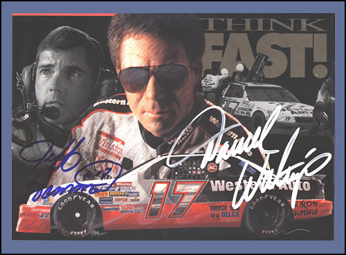 "Think Fast Signed Autograph Card  6"" x 8"""
