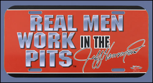 Real Men License plate - Red