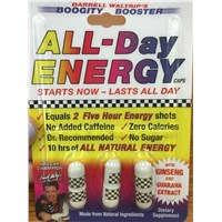 Darrell Waltrip's Boogity Booster ALL-Day ENERGY caps