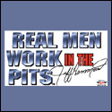 Real Men Window Cling