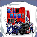 Real Men Work In The Pits White T-shirt