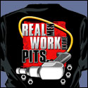 Real Men Work In The Pits T-shirt-Black