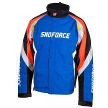 Blue Mens Yamaha Snoforce Insulated Velocity Snow Jacket with Outlast