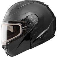 GMax Black GM64S Modular Snowmobile Helmet with Dual Lens