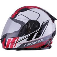 GMAX Youth White/Red Rogue Snowmobile Helmet