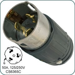 Honda 3-pole, 4-wire, locking plug (male) H