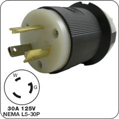 3-prong locking plug (male) E