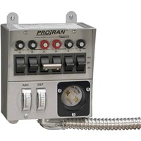 30 Amp, 125 Volt, 6-circuit, Indoor (EU3) Transfer Switch