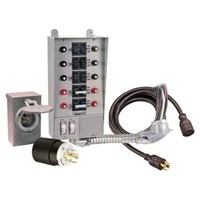 30 Amp, 8-circuit, Indoor w/25' Cord And Box Transfer Kit