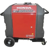 "Honda generator EU3000is 4-wheel kit w/locking front swivel casters and 6"" rear wheels"