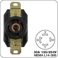 Locking Plug (male) For Generator Receptacles G