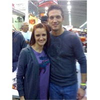 JJ and Fan Alicia Kirkpatrick at 2011 Chili Bowl