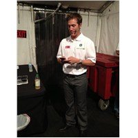 JJ waiting backstage before Trackside appearance on Friday, Sept 28th before Dover race.