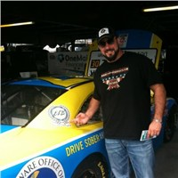 Country Singer Eric Lee Beddingfield, Honorary team member on the Nationwide #27 Go Canada, Drive Sober Arrive Alive car