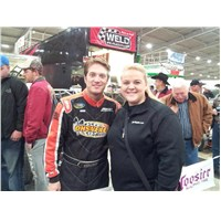 JJ and Amber Dawn Renfro-Doty in the pits, Saturday night Chili Bowl