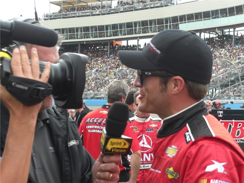 Interview with JJ before the race