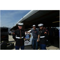 JJ talking to Marines in the garage